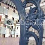 Vintage Taç Model Lacivert Renk Dekoratif Ayna-18