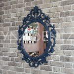 Vintage Taç Model Lacivert Renk Dekoratif Ayna-3