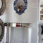 Vintage Taç Model Lacivert Renk Dekoratif Ayna-6
