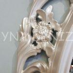 Vintage Taç Model Sedef Renk Dekoratif Ayna-19