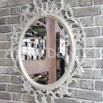 Vintage Taç Model Sedef Renk Dekoratif Ayna-3