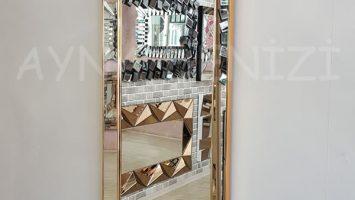 Ayna Çerçeveli Model Altın Renk Boy Aynası