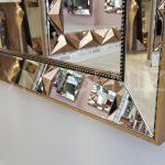 Ayna Çerçeveli Model Eskitme Altın Renk Boy Aynası-11