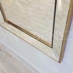 Ayna Çerçeveli Model Eskitme Altın Renk Boy Aynası-12