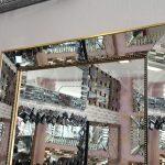 Ayna Çerçeveli Model Eskitme Altın Renk Boy Aynası-14