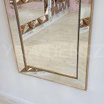 Ayna Çerçeveli Model Eskitme Altın Renk Boy Aynası-15