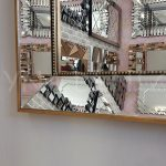 Ayna Çerçeveli Model Eskitme Altın Renk Boy Aynası-16