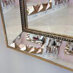 Ayna Çerçeveli Model Eskitme Altın Renk Boy Aynası-17