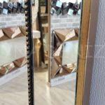 Ayna Çerçeveli Model Eskitme Altın Renk Boy Aynası-19