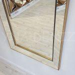 Ayna Çerçeveli Model Eskitme Altın Renk Boy Aynası-5