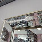 Ayna Çerçeveli Model Eskitme Gümüş Renk Boy Aynası-15