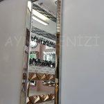 Ayna Çerçeveli Model Eskitme Gümüş Renk Boy Aynası-3