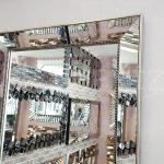 Ayna Çerçeveli Model Eskitme Gümüş Renk Boy Aynası-6