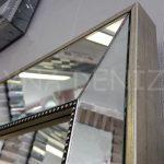 Ayna Çerçeveli Model Eskitme Gümüş Renk Boy Aynası-8