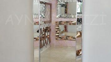 Ayna Çerçeveli Model Gümüş Renk Boy Aynası