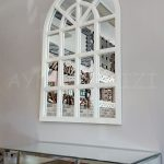 Klasik Model Beyaz Renk Dekoratif Pencere Ayna-14