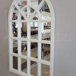 Klasik Model Beyaz Renk Dekoratif Pencere Ayna-2