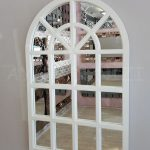 Klasik Model Beyaz Renk Dekoratif Pencere Ayna-3