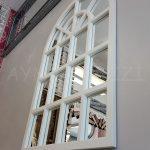 Klasik Model Beyaz Renk Dekoratif Pencere Ayna-6