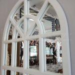 Klasik Model Beyaz Renk Dekoratif Pencere Ayna-7