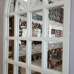 Klasik Model Beyaz Renk Dekoratif Pencere Ayna-8