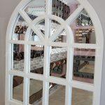 Klasik Model Beyaz Renk Dekoratif Pencere Ayna-9