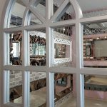 Klasik Model Gümüş Renk Dekoratif Pencere Ayna-10