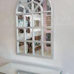 Klasik Model Gümüş Renk Dekoratif Pencere Ayna-13
