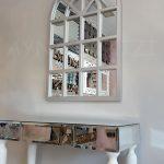 Klasik Model Gümüş Renk Dekoratif Pencere Ayna-14