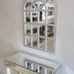 Klasik Model Gümüş Renk Dekoratif Pencere Ayna-15