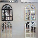 Klasik Model Gümüş Renk Dekoratif Pencere Ayna-16