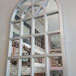 Klasik Model Gümüş Renk Dekoratif Pencere Ayna-2