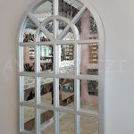 Klasik Model Gümüş Renk Dekoratif Pencere Ayna-3