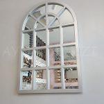Klasik Model Gümüş Renk Dekoratif Pencere Ayna-4