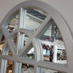 Klasik Model Gümüş Renk Dekoratif Pencere Ayna-7