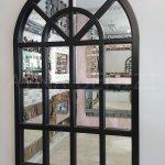 Klasik Model Siyah Renk Dekoratif Pencere Ayna-1