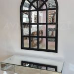 Klasik Model Siyah Renk Dekoratif Pencere Ayna-12