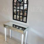 Klasik Model Siyah Renk Dekoratif Pencere Ayna-13