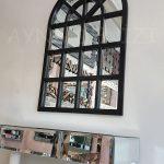 Klasik Model Siyah Renk Dekoratif Pencere Ayna-14