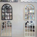 Klasik Model Siyah Renk Dekoratif Pencere Ayna-16