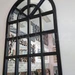 Klasik Model Siyah Renk Dekoratif Pencere Ayna-3