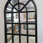 Klasik Model Siyah Renk Dekoratif Pencere Ayna-4
