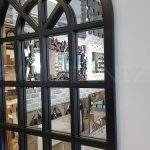 Klasik Model Siyah Renk Dekoratif Pencere Ayna-5