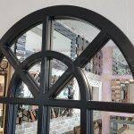 Klasik Model Siyah Renk Dekoratif Pencere Ayna-6