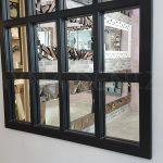 Klasik Model Siyah Renk Dekoratif Pencere Ayna-8