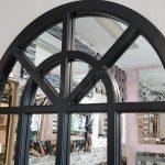 Klasik Model Siyah Renk Dekoratif Pencere Ayna-9