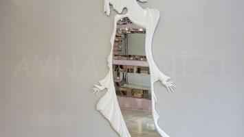 Kız Model Beyaz Renk Boy Aynası