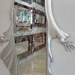 Kız Model Gümüş Renk Boy Aynası-10