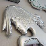 Kız Model Gümüş Renk Boy Aynası-17