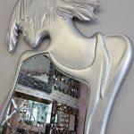 Kız Model Gümüş Renk Boy Aynası-20